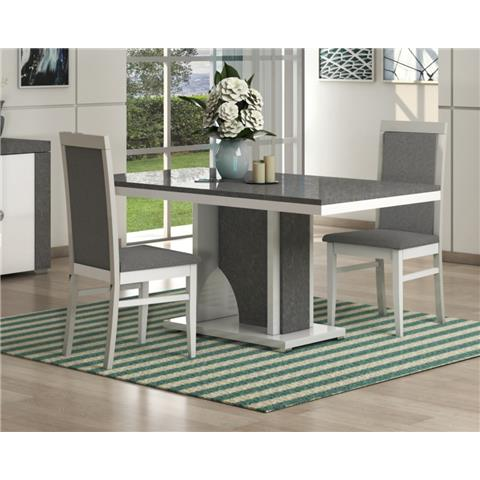 SAN MARTINO LINUX RECTANGULAR WOODEN TABLE & 6 CHAIRS
