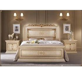 Camel leonardo Italian Bedframe & Night Tables by arredo classic