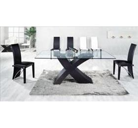 ARIZONA BLACK GLASS LARGE DINING TABLE