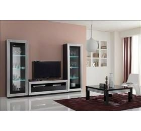Silver Black Highgloss Living Room Collection