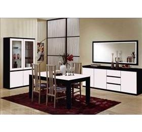 Roma Black & White Highgloss Dining Collection