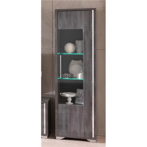SAN MARTINO ARMONY GREY ONE DOOR DISPLAY CABINET