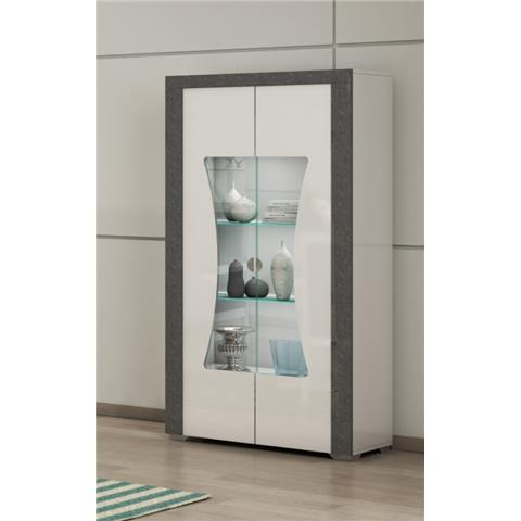 SAN MARTINO LINUX 2 DOOR GLASS CABINET WITH LED LIGHT