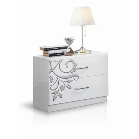 Mary White 2 Door Bedside Cabinet