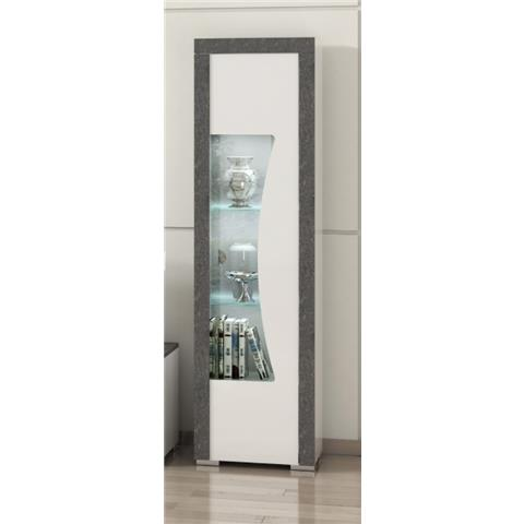 SAN MARTINO LINUX 1 DOOR GLASS CABINET WITH LED LIGHT