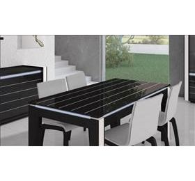 Avantgarde Black Highgloss Dining Table With Lights
