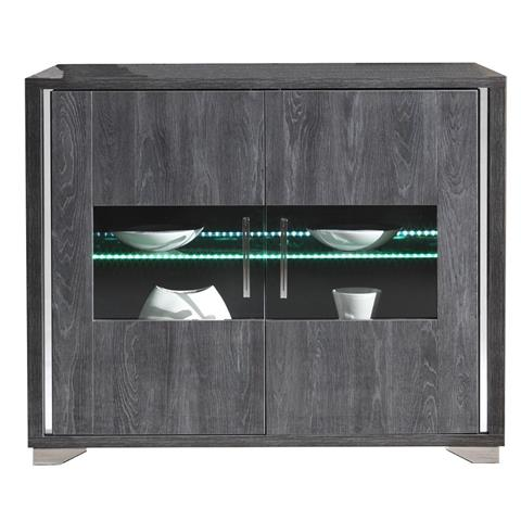 SAN MARTINO ARMONY GREY 2 DOOR BASE WITH LED LIGHTS