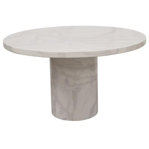 Vida Living Carra Bone White Marble Dining Table