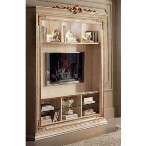 Arredoclassic Leonardo Golden Italian Wall Unit Composition