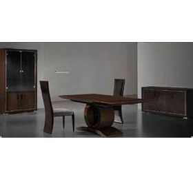 Allegro Espresso Highgloss Lacq Veneer Dining Table + 6 Chairs