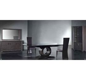 Allegro Grey Highgloss Lacq Veneer Dining Table + 6 Chairs