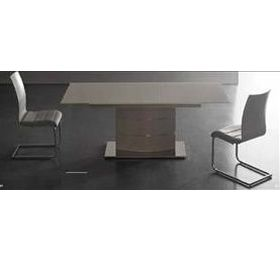 Allma Matt Taupe Dining Table + 6 Chairs