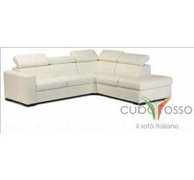 Cubo Rosso Amemone Cream Leather Corner Sofa
