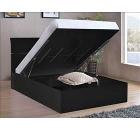 Arden Storage Bed High Gloss Black King Size