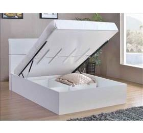 Arden Storage Bed High Gloss White King Size