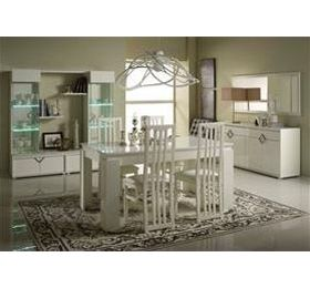 Boston Highgloss White Dining Room Collection