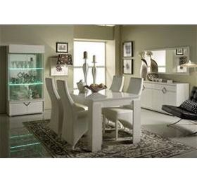 Boston Highgloss White Dining Room Set