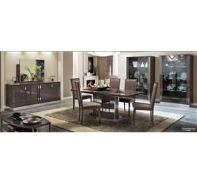 Platinum Highgloss Grey Dining Table & 6 Chairs