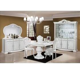 prestige White High gloss dining table and 6 chairs