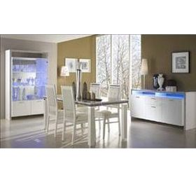 Gemma Italian White Highgloss Dining Collection