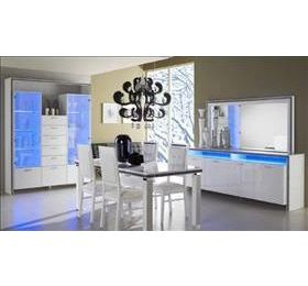 Gemma White Highgloss Dining Room Collection