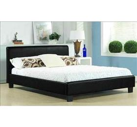 Hamburg '4ft 6' Black Leather Bedframe