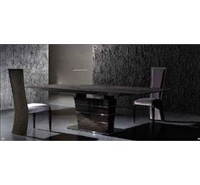 Luxor Highgloss Grey Dining Table + 6 Chairs