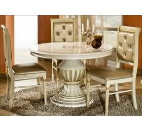 Rossella H2O Cream & Gold Table + 4 Chairs