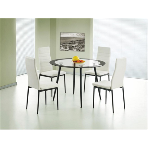 Acodia round dining table and 4 chairs