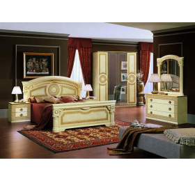 Aida 4 Door Italian Ivory Bedroom Package Deal