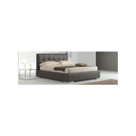 Alice real leather double bed frame