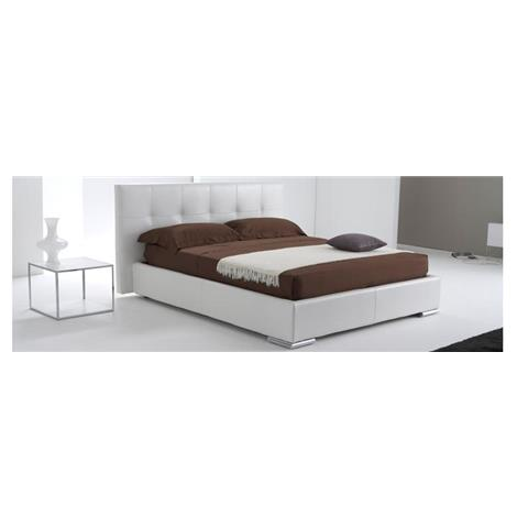 Alice 2 real leather double storage bed frame
