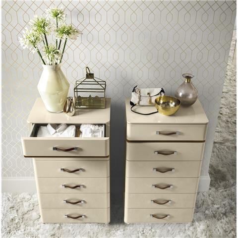 Camel Group Altea Ivory finish 6 drawer tall chest