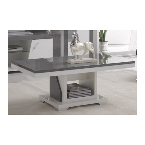 ascot grey and white high gloss marble effect coffee table