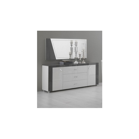 ascot grey and white high gloss marble effect sideboard