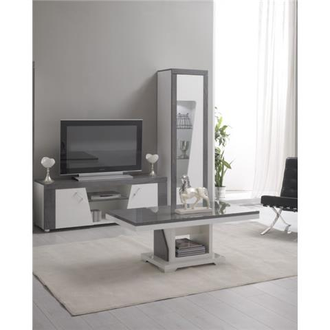 ascot grey and white high gloss marble effect tv unit