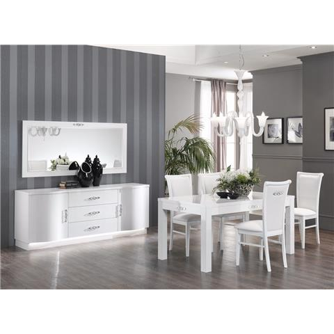 Athena high gloss table and 4 chairs
