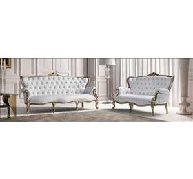 Bach leather italian 3 seater and 2 seater sofa