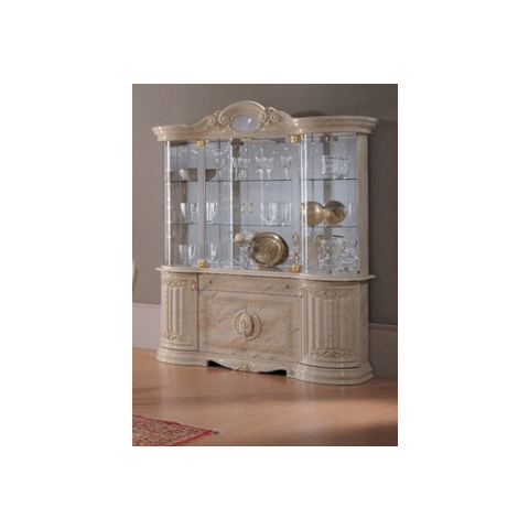 Ben Company Betty Onyx Finish Italian 4 Door Vitrine