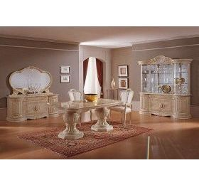 Betty Cream & Gold Dining Table + 4 Chairs & 2 Carvers
