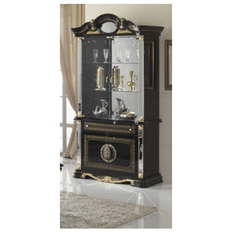 Ben Company Betty Black / Gold Finish Italian 2 Door Vitrine