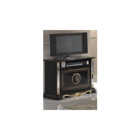 Ben Company Betty Black / Gold Finish Italian TV Cabinet