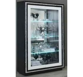 Prestige Black & White Diamante 2 Door Wall Unit