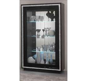 Prestige Black Diamante 2 Door Wall Unit