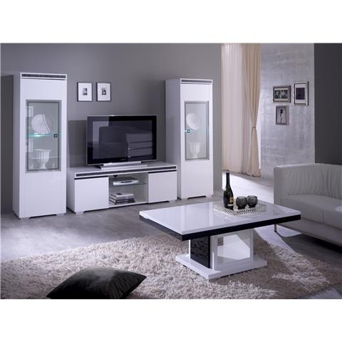 blazer italian white and black high gloss one door unit