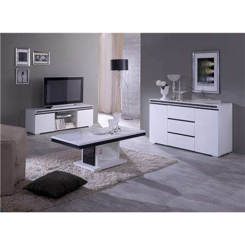 blazer italian white and black high gloss tv unit