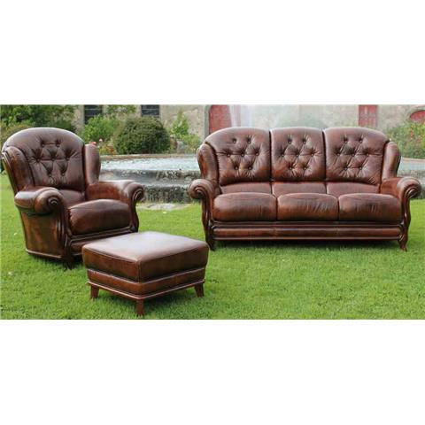 Charisma Italian Leather 3 + 1 + 1 Suite