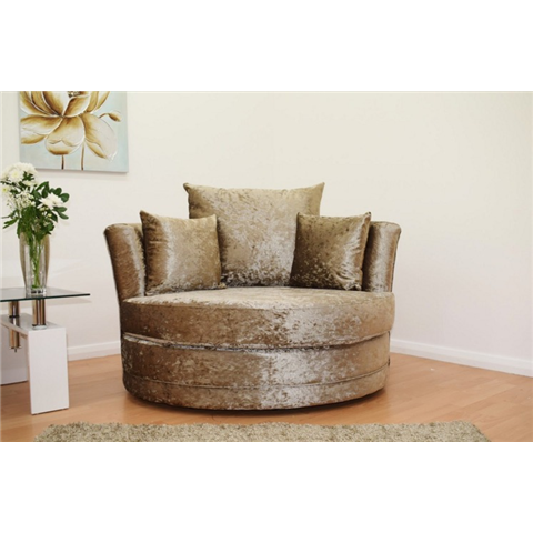 cuddle love crushed velvet chair in truffle
