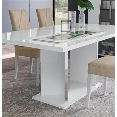 Lisa Italian White Dining Table & 6 Chairs