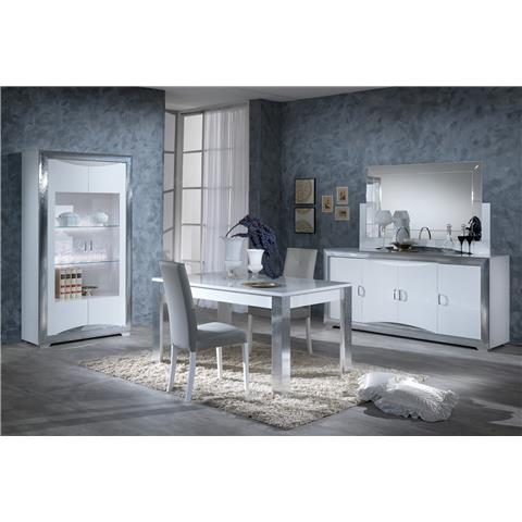 Dolce vita italian high gloss dining table with 4 chairs